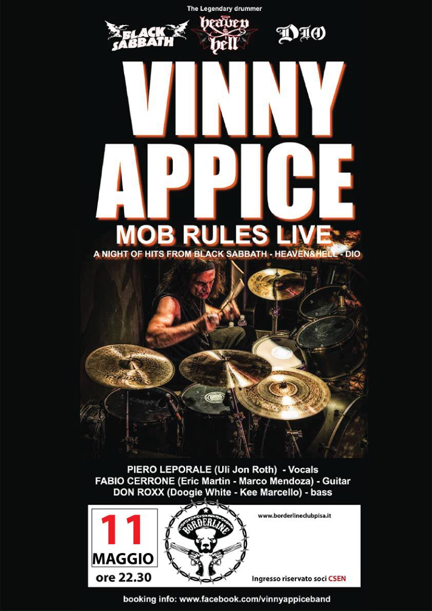 Borderline Club Pisa - Vinny Appice Band play Dio